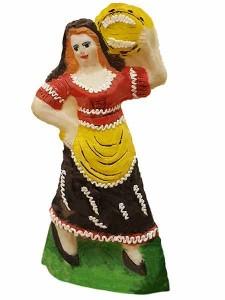 Pupaccena, bambola di zucchero colorata a mano