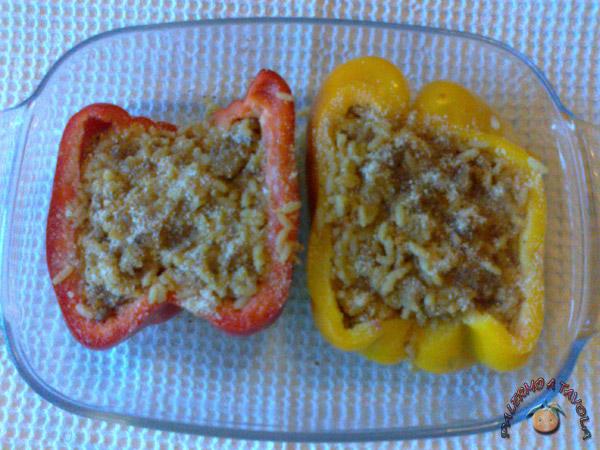 Peperoni-ripieni-riso-salsiccia-2
