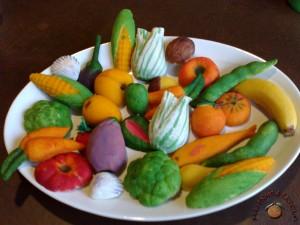 Vassoio di frutta martorana. Tipico dolce della festa dei morti a Palermo